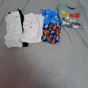 Different sized boys clothes sold as a lot.